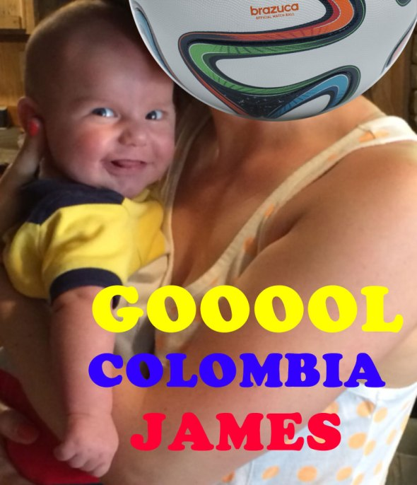 My First World Cup with Tocayo @JamesDRodriguez